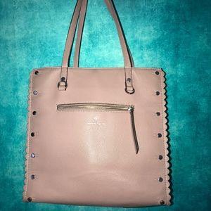 Nanette Lepore dusty pink studded shoulder bag